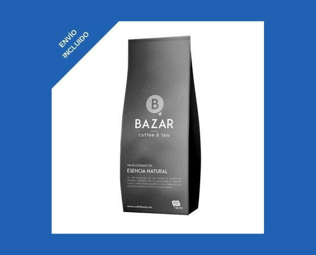 Café en Grano Bazar. Una mezcla de arábicas que caracterizan un intenso producto lleno de cuerpo y sabor