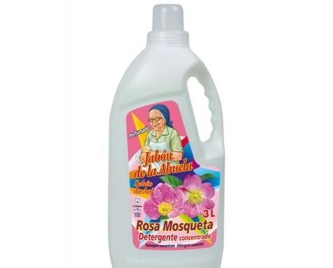 Detergente líquido rosa de mosqueta. Detergente liquido rosa mosqueta 3 litros