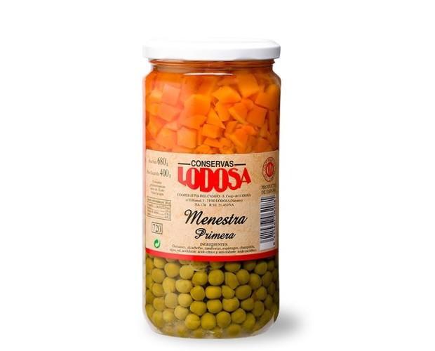 Menestra de verdura. Hecha con los mejores ingredientes: Guisantes, alcachofas, zanahorias, espárragos y champiñón