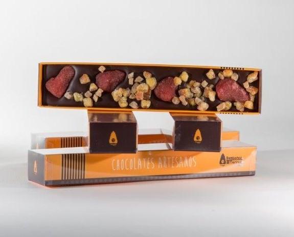 FRESA Y NARANJA. Chocolatina gourmet - Bombones Torres (Navarra)