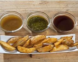 Patatas Gajo. Disponemos de una amplia gama de complementos listos para consumir previa regeneración en horno