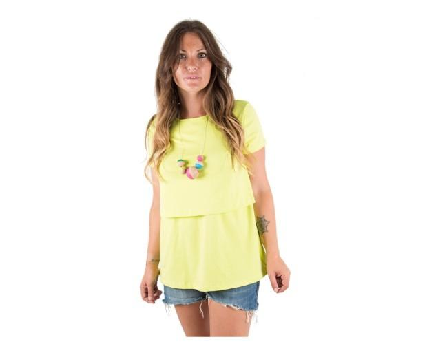 Camiseta lactancia básica fluor