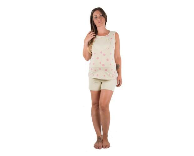Pijamas Premamá.Pijama de lactancia y premamá de verano en dos piezas