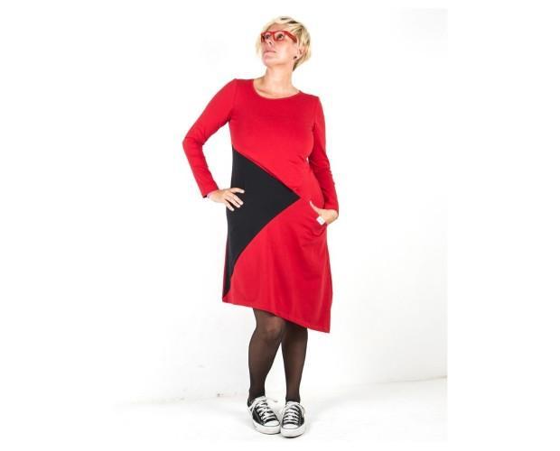 Vestido red gafas. Hermoso y moderno diseño premamá