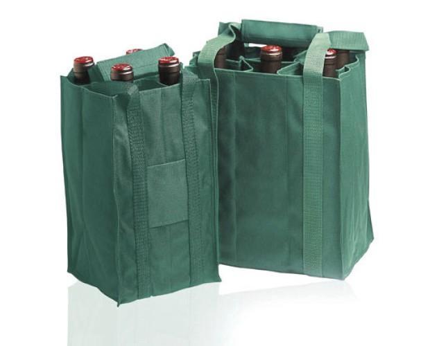 Bolsas para botellas. Color: verde.