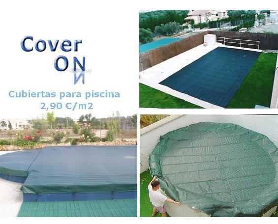 Cubiertas para piscina. También fabricamos a medida