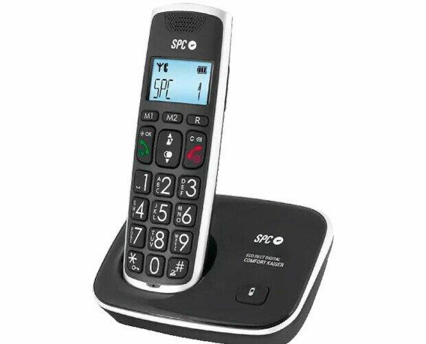 Teléfonos Fijos y Accesorios.Spc Telecom Teléfono Inalámbrico Tecla Grande 7608