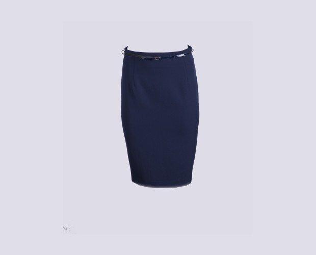 Falda Modelo 102. Corte recto con cinturón