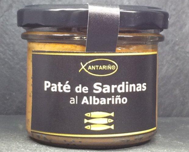 Conservas de Pescado.Paté Artesano de Sandina con Vino Albariño