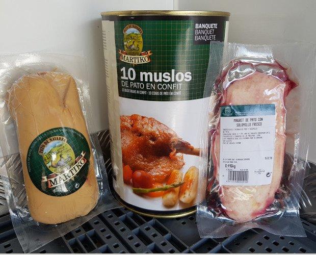 Carne de Aves de Caza. Pato. Variedad de productos
