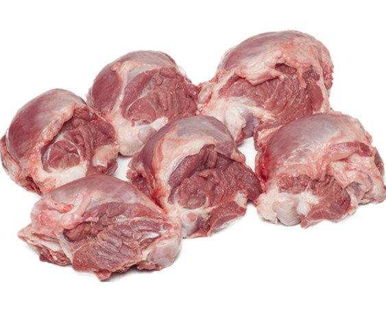 Quijadas. Carrilladas de cerdo frescas y congeladas.