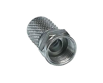 Conector F. Macho de rosca para cable estándar de 6,5mm