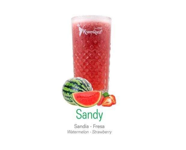Sandy. Sandía y fresa