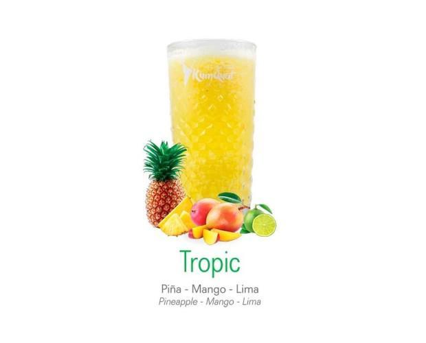 Tropic. Piña, mango y lima