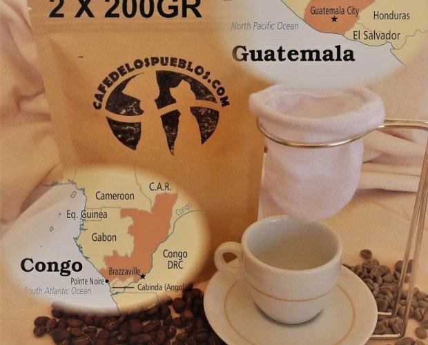 Combo Guatemala y Congo. Contiene: 1 Guatemalteco 200gr + 1 Congo 200gr