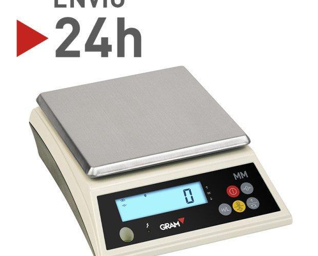 Balanza con múltiples aplicaciones. Resistente al agua y polvo e ideal para el uso industrial.