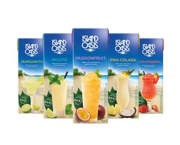 Island Oasis. La gama de purés de fruta, para smoothies y coctelería más completa del mercado.