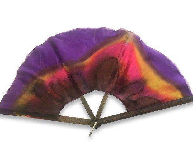 Abanico Artesanal Silkfull. Elaborado en seda y técnica de pinturas modernas