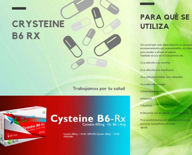 Productos de Parafarmacia. Complementos Nutricionales Drenantes. Cisteine + B6- Sirve para el tratamiento de adicciones. Intoxicación por acetaminofen. Prevención de la insuficiencia renal. Depresión- Bipolaridad. Autismo Psicosis...etc.. Producto bajo pedido