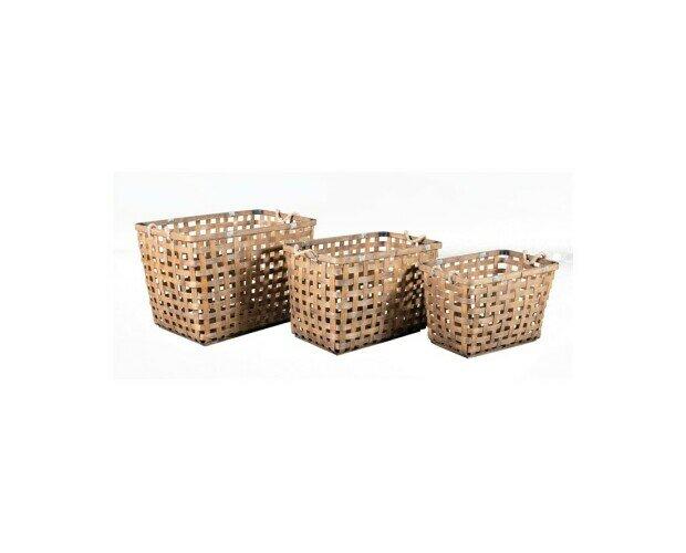 Canasta de bambú. Canasta de bambú natural de 57x38x37cm
