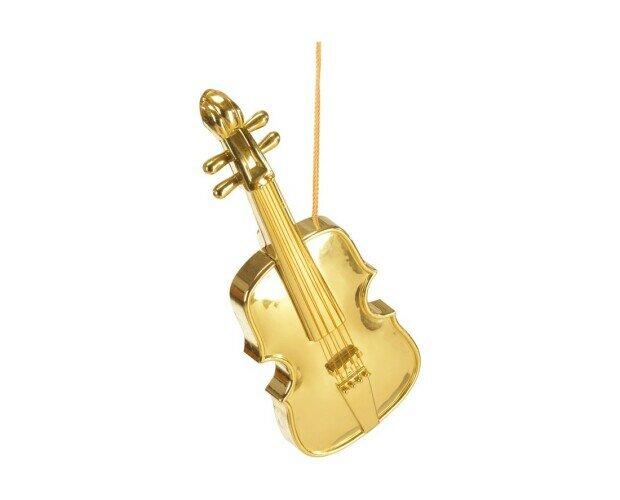 Violín decorativo. Violín decorativo dorado de 48cm