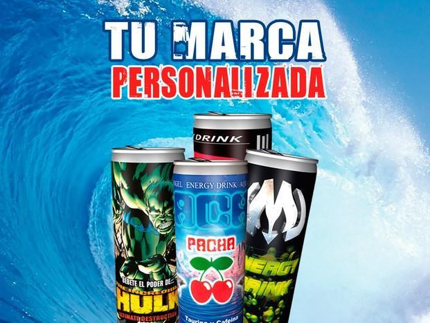 Bebidas personalizadas. Bebida energética personalizada desde 10 cajas de 24 ud