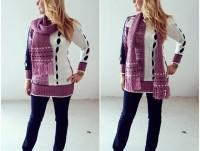 Conjunto de abrigo y bufanda