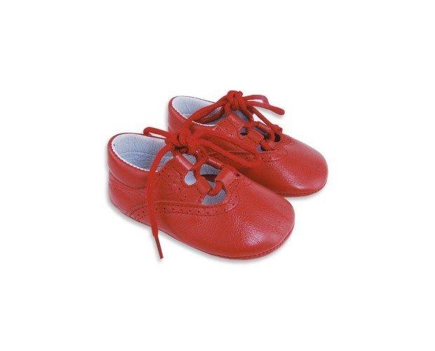 Calzado para Niños. Zapatos de Ceremonia para Niños. Inglesito rojo
