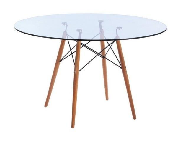 Mesas.Mesa Eames Glass Style 100cms