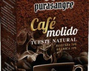 Café Purasangre 250g. Café molido Purasangre tueste natural. Sabor Robusta 70% Arábica 30%