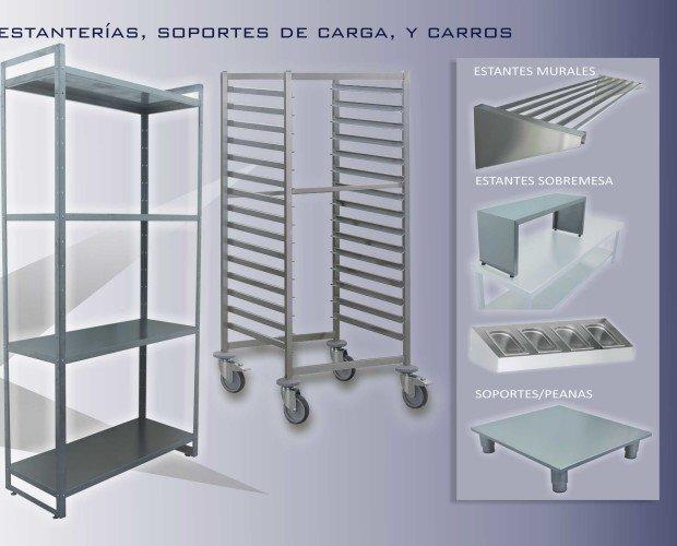 Carga / Transporte. Estantes, Carros panaderos, bandejas GN, Sobremesa