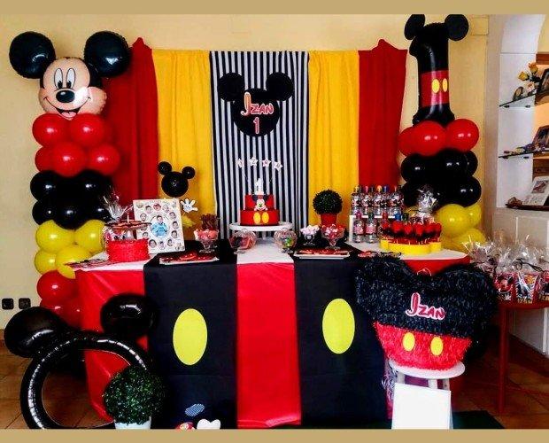 Decoración cumpleaños Mickey Mouse. Hermosos decorados