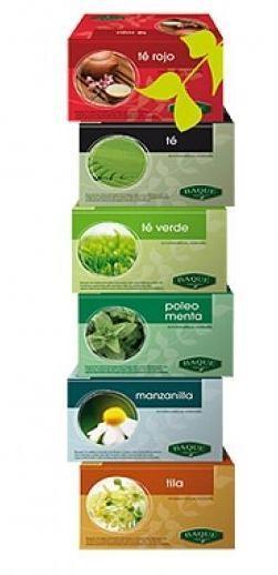 Te e Infusiones. Menta, Manzanilla, Té Rojo, Té Verde y Tila