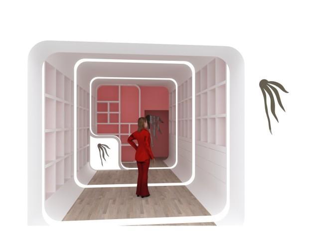 Diseño Gráfico.Maqueta virtual de una pequeña tienda