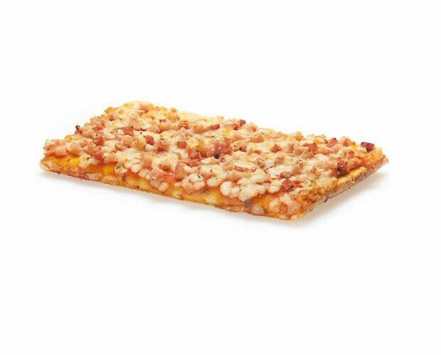 Pizza familiar. Pizza de barbacoa en formato de 1 kilogramo