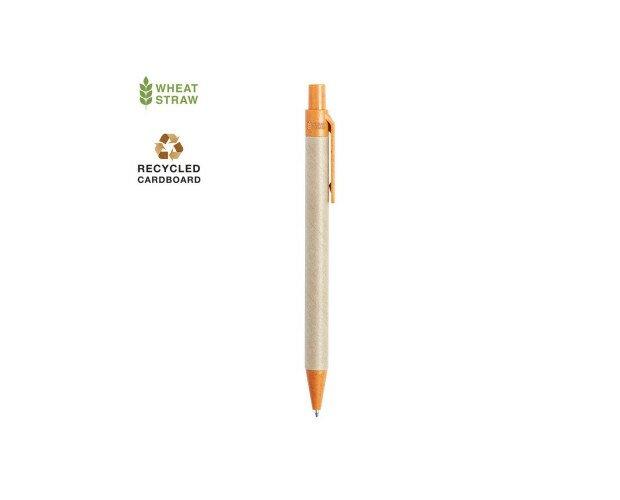 Bolígrafo Desok. Combinación de cuerpo en cartón reciclado de color natural