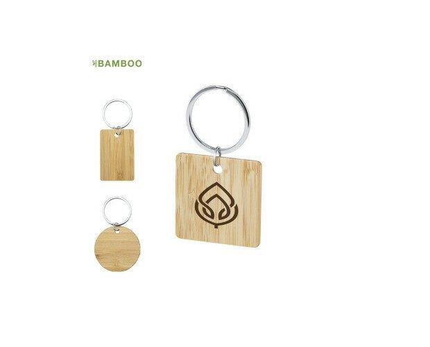 Llavero Sonek. De línea nature fabricado en bambú