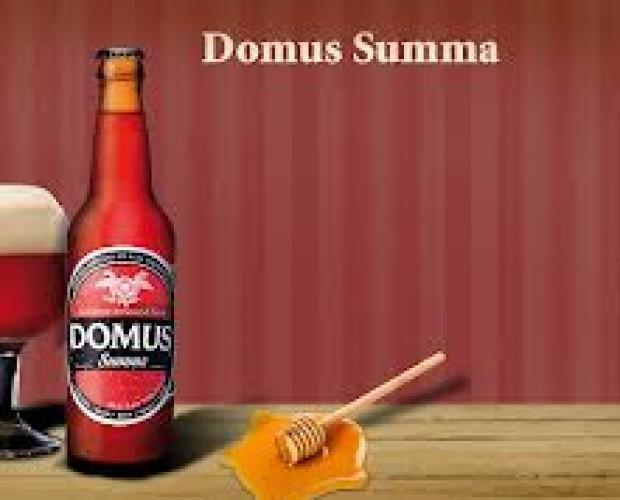 Domus. Cerveza artesanal de toledo, con sabor miel