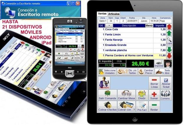Tele Comandas. Conexión con TABLETAS para Tele Comandas iPad/Android