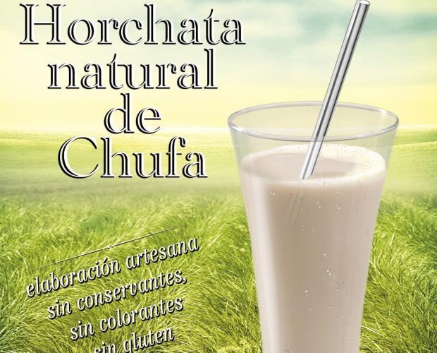 Horchata artesana. Horchata de Chufa, sin colorantes, botella de 1L.