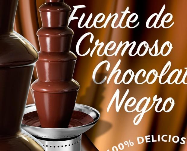 Fuente de chocolate. Para chocolate negro, blanco o sabores