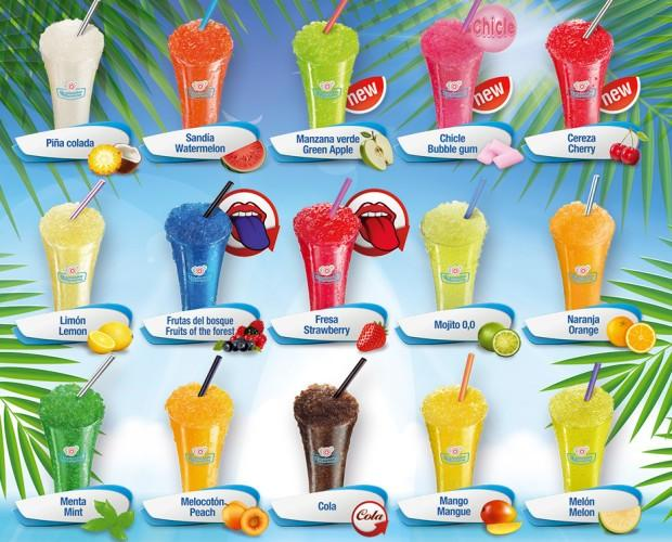 Frosty Multisabor. 15 sabores de Frosty Granizados