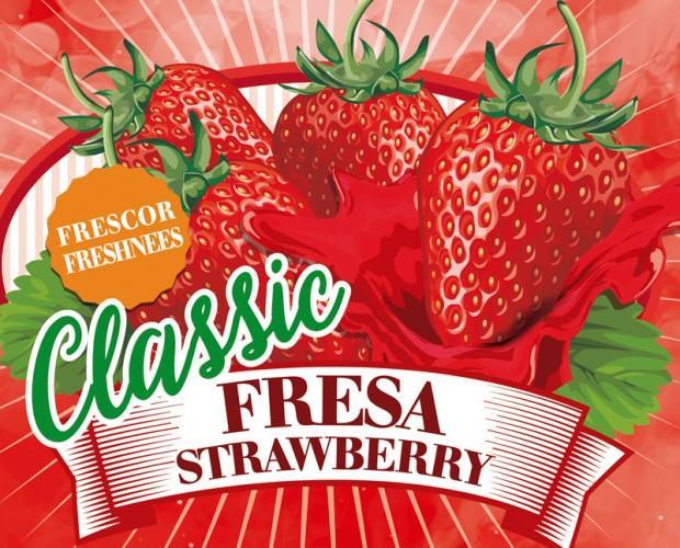 Classic-fresa. Granizados tradicionales de fresa
