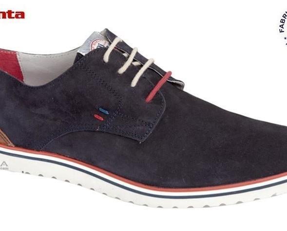 Zapato en piel serraje. Calzado cómodo