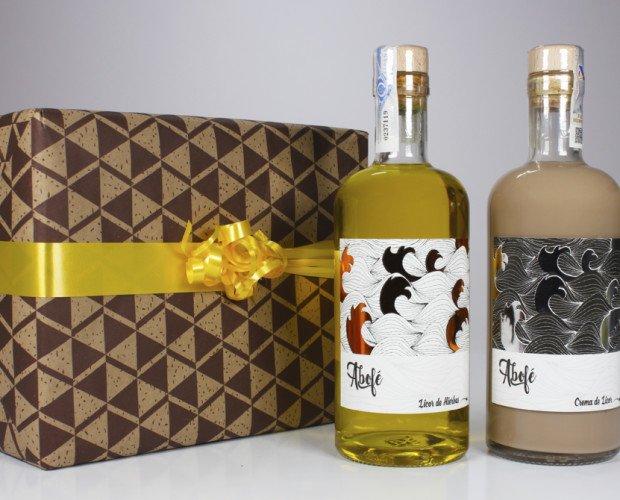 Estuche regalo licores Abofé. Regálate un licor artesano gallego y disfrútalo en ese momento del día especial