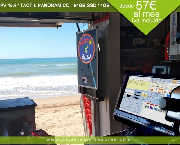 Pack TPV KT-100. Pack TPV KT-100 configurado en Playa de Calella
