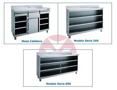 Mobiliario Acero Inoxidable. Variada gama de productos.