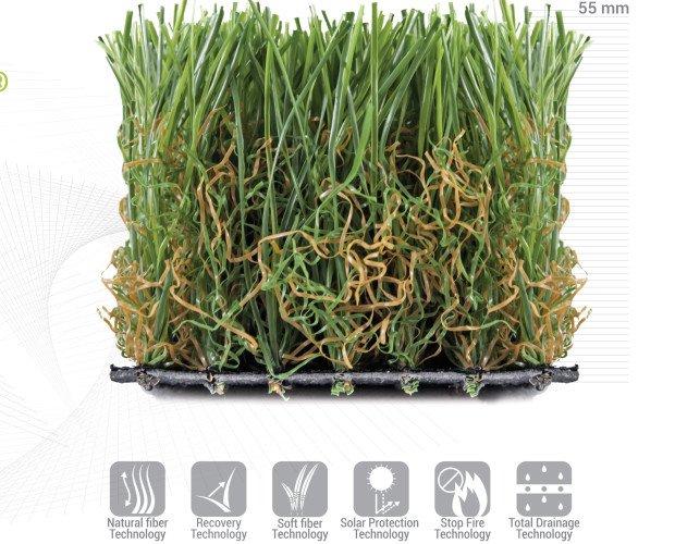 Equipamiento de Jardín. Césped Artificial. SELVA está diseñado con fibras altas, aportándole un aspecto salvaje y natural.  Un producto ideal para quien busque el aspecto más realista, suave y confortable en su jardín.