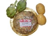Tortilla de patatas con alcachofas