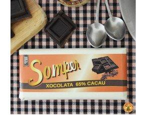 Chocolate 65% cacao. Ideal para la gente a la que le gusta el chocolate dulce.